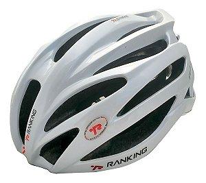 Capacete Bike Ranking R91 Feather Branco Perolado Tamanho M