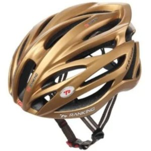 Capacete Bike Ranking R91 Feather Dourado Tamanho G
