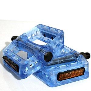 Pedal Plataforma Bike Wellgo B-107P Nylon Azul 9/16