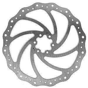 Disco / Rotor Freio Bike 203mm Winzip Ondulado 6 Furos