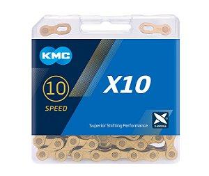 Corrente Kmc X-10 Ti-n Dourada 10v 116l