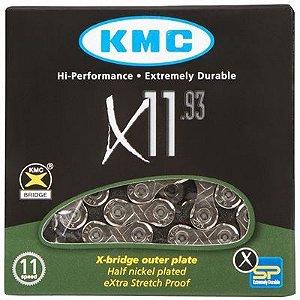 Corrente Kmc X-11 Prateado 11vel 1/2x11/128 116L