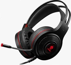 Headset Gamer EG301R/TEMIS Vermelho com fio EVOLUT