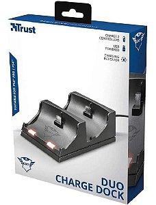 Carregador para DualShock 4 Trust Duo Charge Dock GXT 235 - PS4
