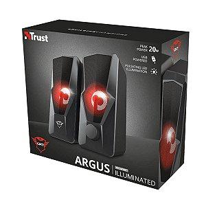 Caixa de Som Gamer Trust Argus LED 2.0 GXT 610