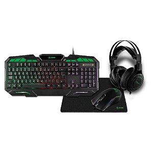 Combo  Xzone GTC 02 4 Em 1 - Teclado/Headset/Mouse/Mousepad