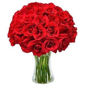 Arranjo de Rosas Vermelhas Com 40 Unidades
