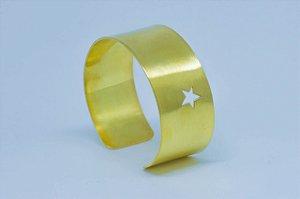 Pulseira  Ajustavel Star - Prata  925 - (Banhado de Ouro-18k).