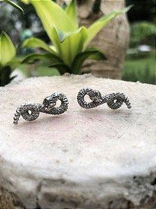 Brinco Mini Snake - Prata 925