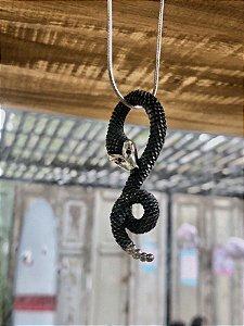 Colar Snake c\ Rubi - Prata 925