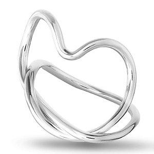 Anel Coração - Prata 925
