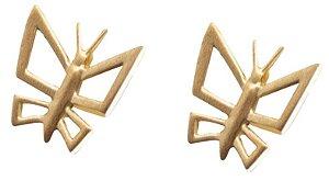 Brinco Mini Borboleta de Ouro - 18k