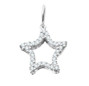 Pingente Estrela do Mar / Zirconias - Prata 925