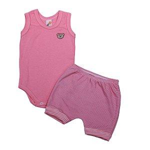 Conj. Body +Tapa Fralda (Rosa Pink)