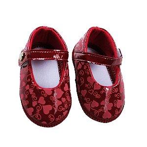 Sapatinho  Keto Baby (Vermelho Coração)