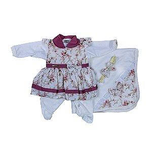 Saida Maternidade Vestido RN (Rosa Seco)