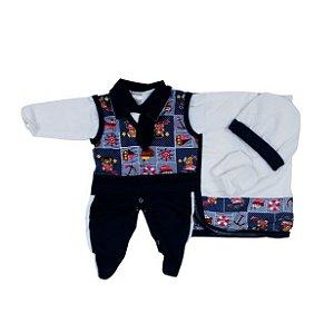 Saída Maternidade Suéter RN (Azul M/ Marinheiro)