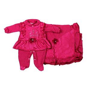 Saida Maternidade K-Baby RN (Rosa Pink C/ Strass)