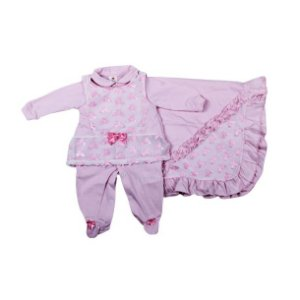 Saida Maternidade K-Baby Borboletas RN (Rosa Bebê)