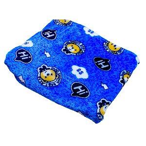 Cobertor Manta Plush (Urso Azul bebe)