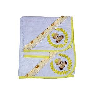 Jg de Toalha 3Pçs (Amarelo/Urso)