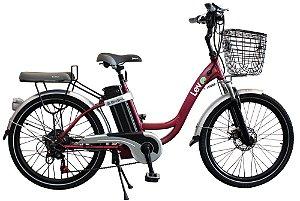 Bicicleta Elétrica Lev E-bike L Aro 24 - Bordô