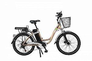 Bicicleta Elétrica Lev E-bike L Aro 24 - Dourada