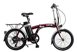 Bicicleta Elétrica Lev E-bike D Aro 20 - Bordô