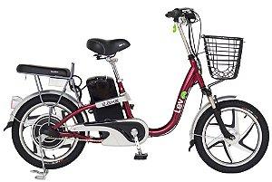 Bicicleta Elétrica Lev E-bike Aro 18 - Bordô