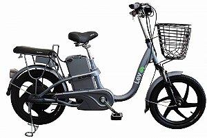 Bicicleta Elétrica Lev E-bike Aro 18 - Cinza Espacial