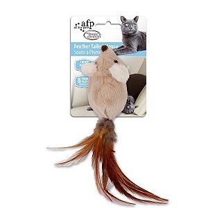 Brinquedo Pelúcia Afp Ratinho com Pena Para Gatos - Classic Comfort