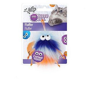Brinquedo Afp Monstrinho Com Cordões Laranja Para Gatos - Furry Ball