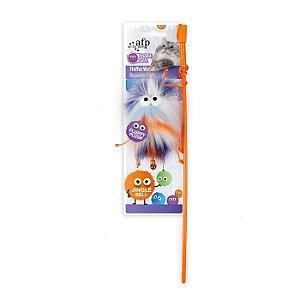 Brinquedo Varinha Afp Monstrinho Laranja Para Gatos - Furry Ball