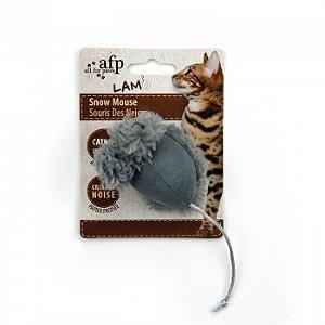 Brinquedo Afp Pelúcia Ratinho Snow Mouse Para Gatos - Lam