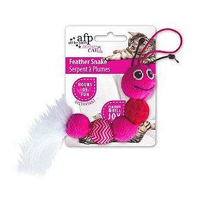Brinquedo Afp Pelúcia Cobrinha Com Penas Feather Snake Para Gatos - Modern Cat