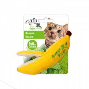 Brinquedo Afp Banana Catnip Canadense Para Gatos - Green Rush