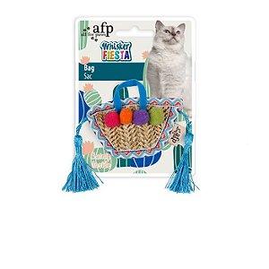 Brinquedo Afp Bolsa Com Enfeites Para Gatos - Whisker Fiesta