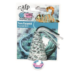 Brinquedo Afp Pirâmide De Lã Para Gatos - Knotty Habit