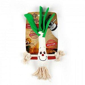 Brinquedo Pelúcia E Corda Afp Alho Poró Para Cachorro - BBQ