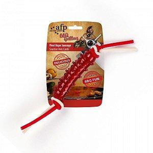 Brinquedo Mordedor Salsicha Borracha Afp Para Cachorro - BBQ
