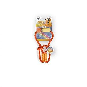 Brinquedo Com Corda E Borracha Afp Para Cachorro - Rope Tangle