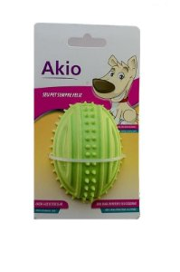 Brinquedo Bola De Borracha Rugby Com Apito Para Cachorro - Akio