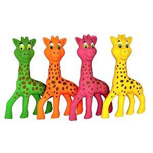 Brinquedo Borracha Latoy Neck Girafa Para Cachorro