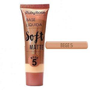 Base Liquida Soft Matte Bege 5 - Ruby Rose Hb 8050