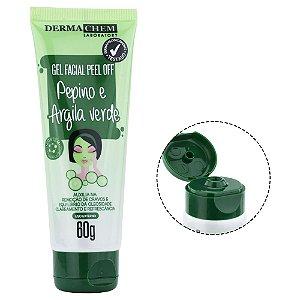 Máscara Facial Peel Off Pepino e Argila Verde 60g Dermachem