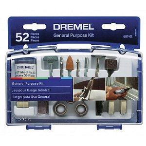 Dremel Kit 687 Uso Geral 52 Pc