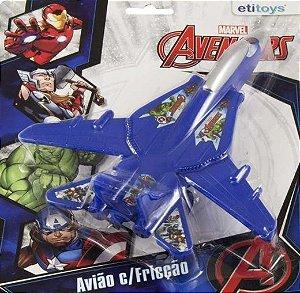 Avião de Fricção Avengers - Azul