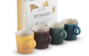Set 4 Canecas Espresso Botanique