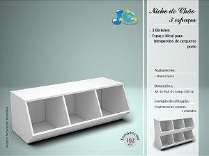 nicho de chão branco fosco - jc móveis
