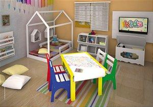 mesa de desenho com bobina de papel - jc móveis
